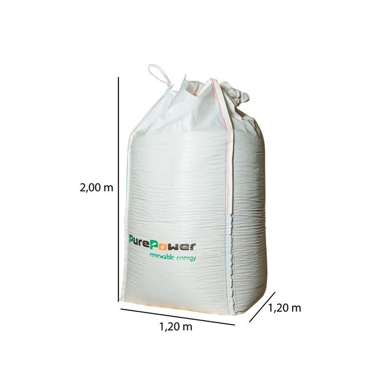 Pelletkorrels Houtpellets Pure Power Dennenhout 1000 kg Big Bag