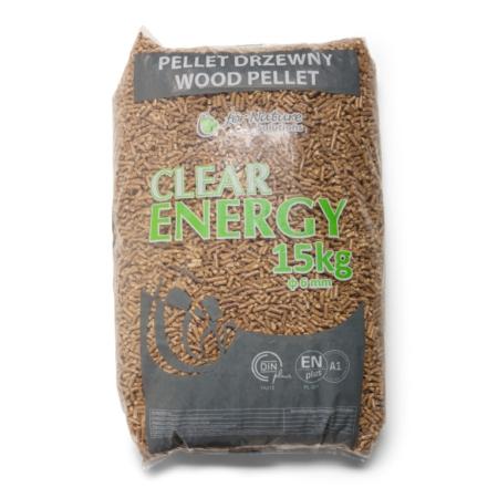 Clear Energy ENplus A1 6 mm 4-sterren naaldhout (70 x 15 kg) voorkant