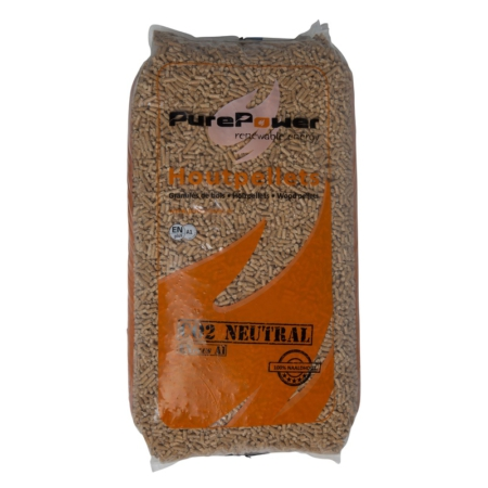Pure Power ENplus A1 6 mm 5-sterren naaldhout (66 x 15 kg) voorkant- 30 zakken